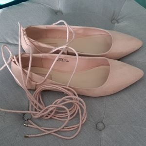 Blush colored ballet style flats